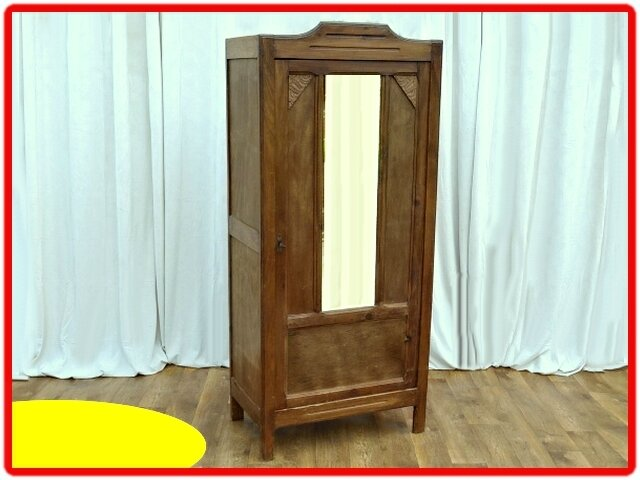 armoire penderie parisienne art deco 1940 1950 vendu meubles d co vintage design scandinave. Black Bedroom Furniture Sets. Home Design Ideas
