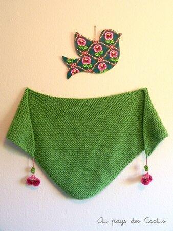Trendy shawl bohême Au pays des Cactus 2