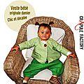 veste bebe damier 3