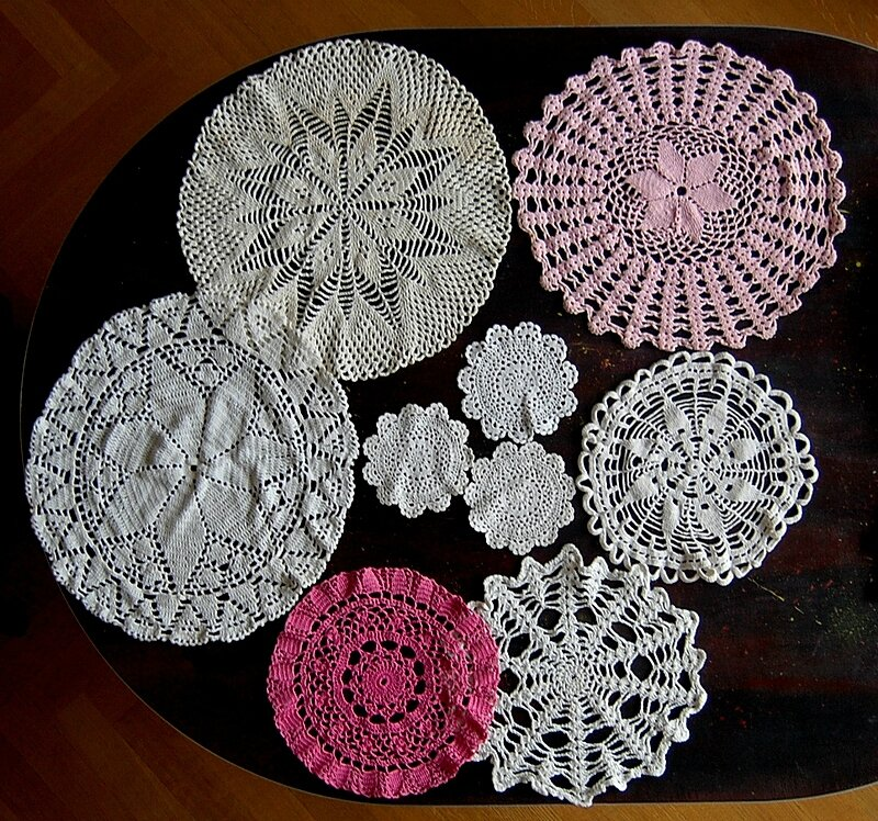 napperons crochets rose 2