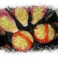 Caviar d'aubergines libanais en paniers fraîcheur