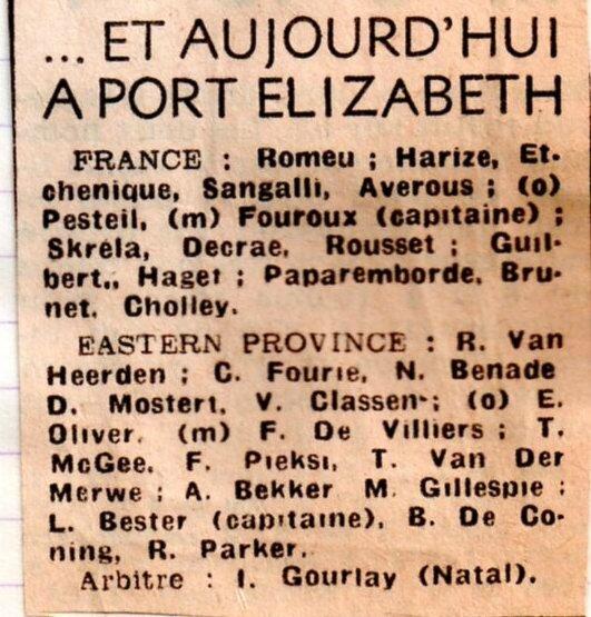 1975 - juin tournée en AFS015 - 6e match composition
