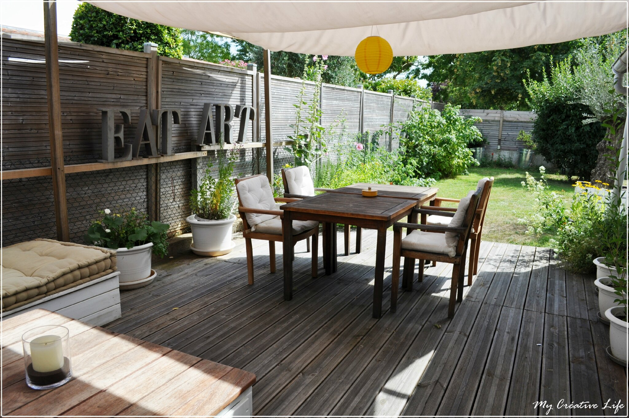 terrasse en bois jardin photo de jardin my cr ative life de mother. Black Bedroom Furniture Sets. Home Design Ideas