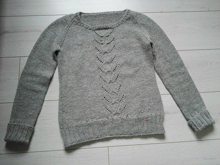 pull gris Géraldine