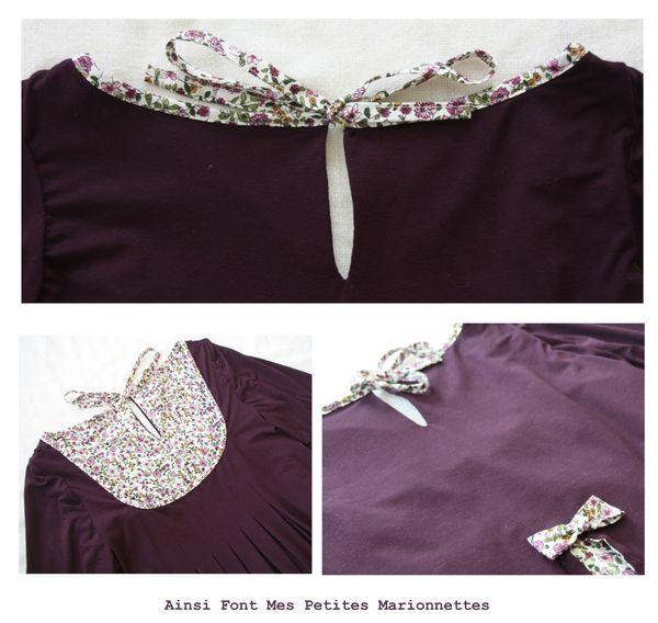 tunique elegante jersey violet 3