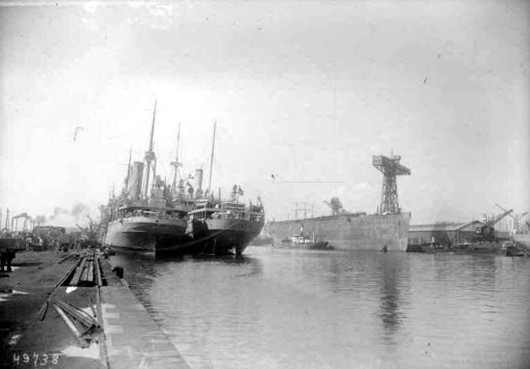Arrivée des américains 1917 St Nazaire