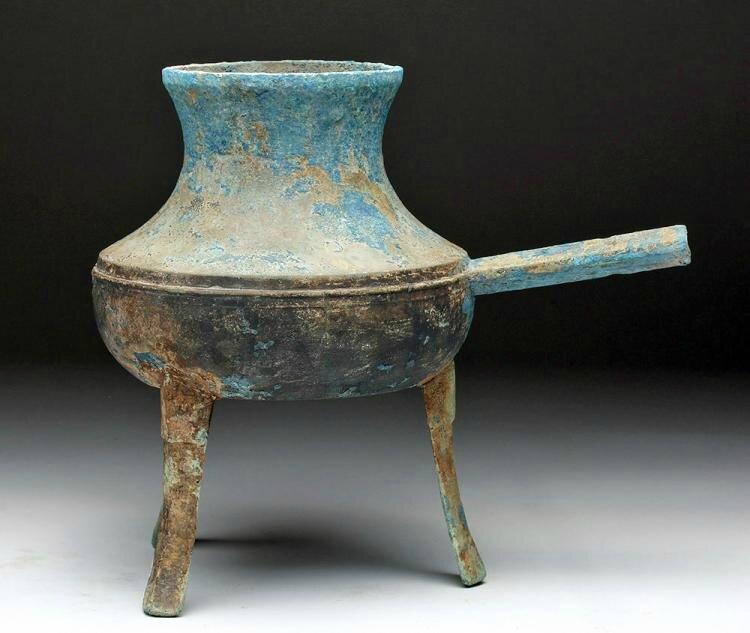 Bronze tripod vessel, Vietnam, ca. 1st century BCE
