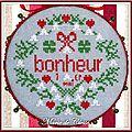 Pinkeep rond Bonheur 1er Mai 10cm 1