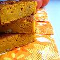 Gâteau fondant au potimarron et à l'orange confite