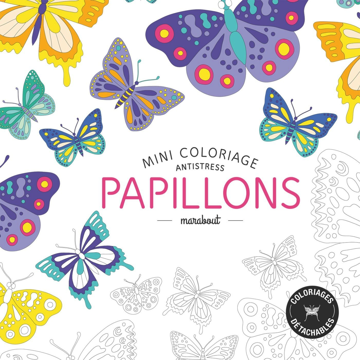 Mini coloriage papillon