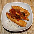 Escalopes de poulet au chutney de mangues