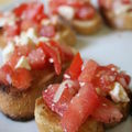 Bruschettas tomate-feta