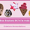 Box boutons poussière des toiles - un lot à gagner