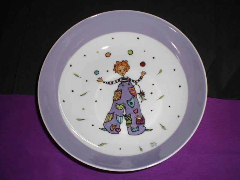 Clown jongleur- Illustration de Anne Soline SINTES