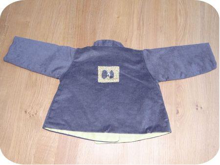 Manteau réversible Mila côté gris dos
