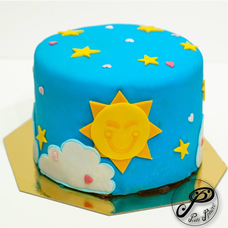 Cake design g teau bisounours 2 pati 39 sph re - Bisounours soleil ...