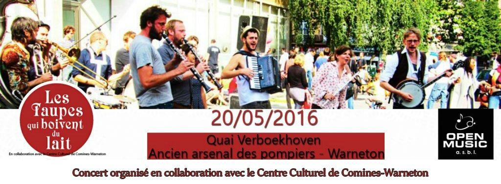 OPEN MUSIC asbl vous invite à son 1er OPEN BBQ à Warneton