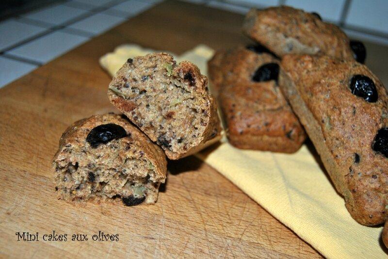 Mini cakes aux olives