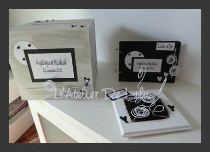 decorationmariage noire et blanche