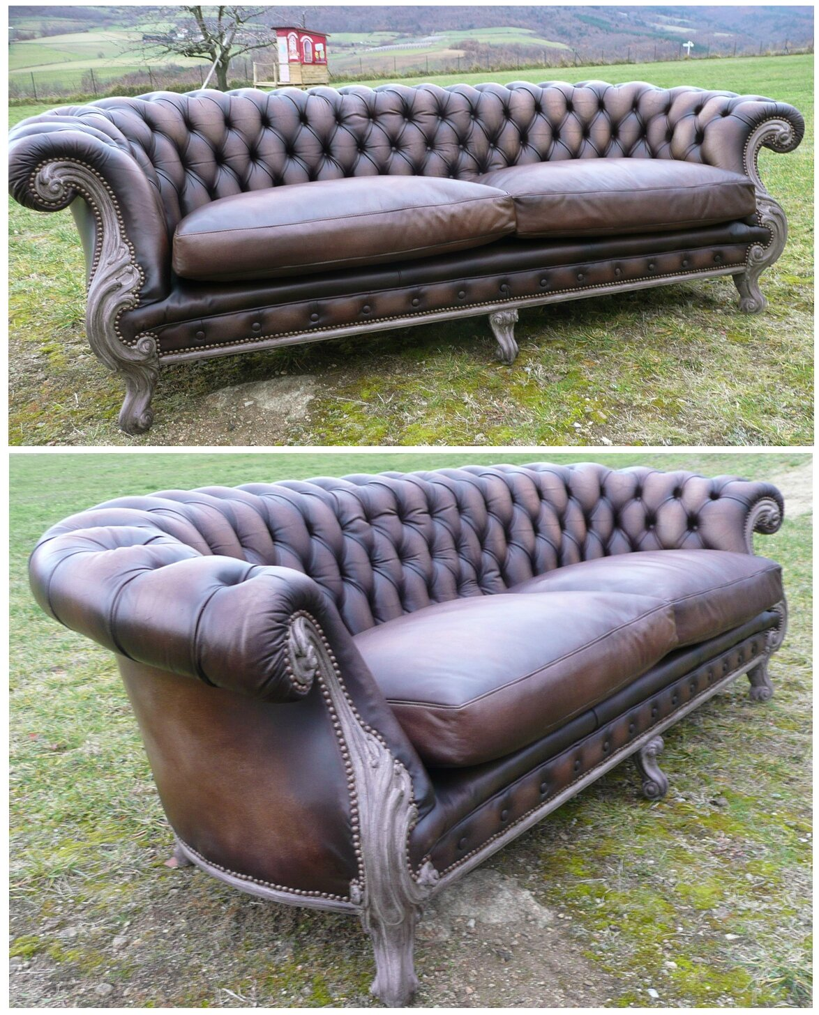 Atelier ka - Canape chesterfield ancien ...
