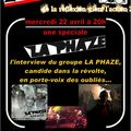 Emission spéciale : la phaze (interview, live...) le mercredi 22 avril 2009 (20h / 21h30)