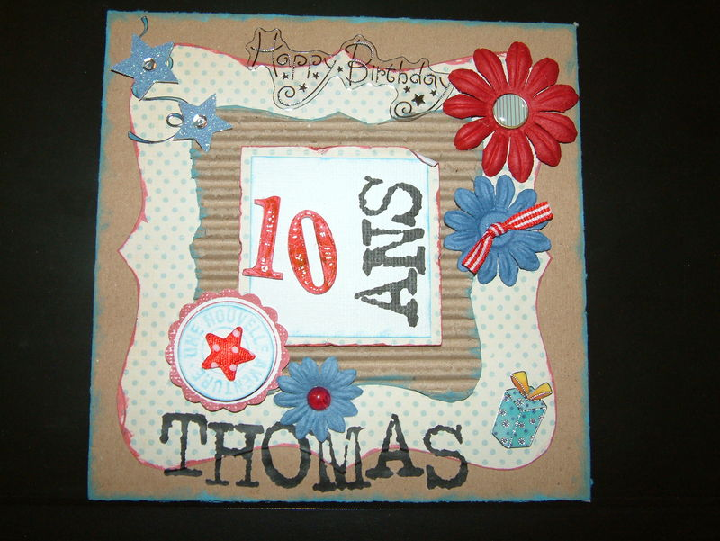 carte anniversaire de thomas 10 ans scrapdenathalie. Black Bedroom Furniture Sets. Home Design Ideas