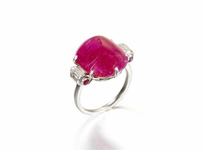 An Art Deco ruby single-stone ring, by Drayson, circa 1930