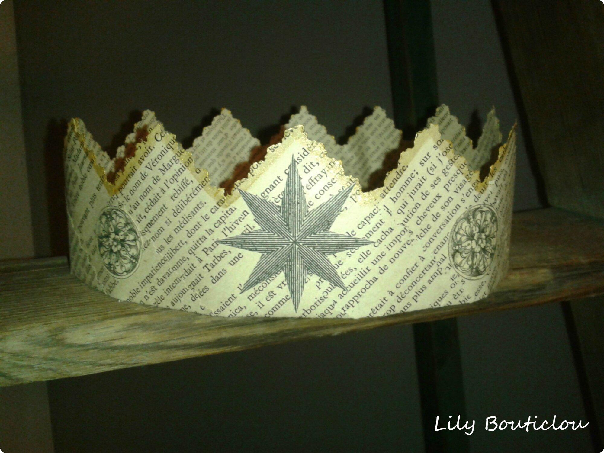 Couronne vieux papier lilybouticlou