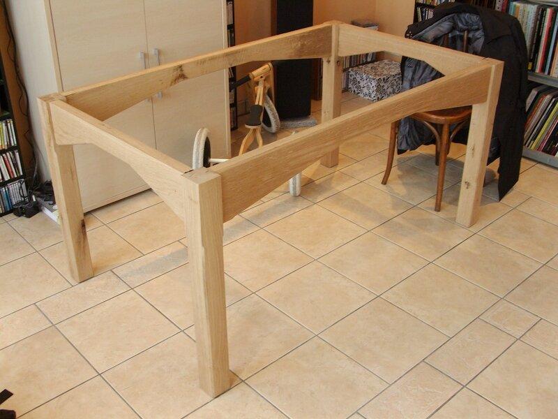 Table de salle manger 10 19 histoires de bois - Fabriquer sa table de salle a manger ...