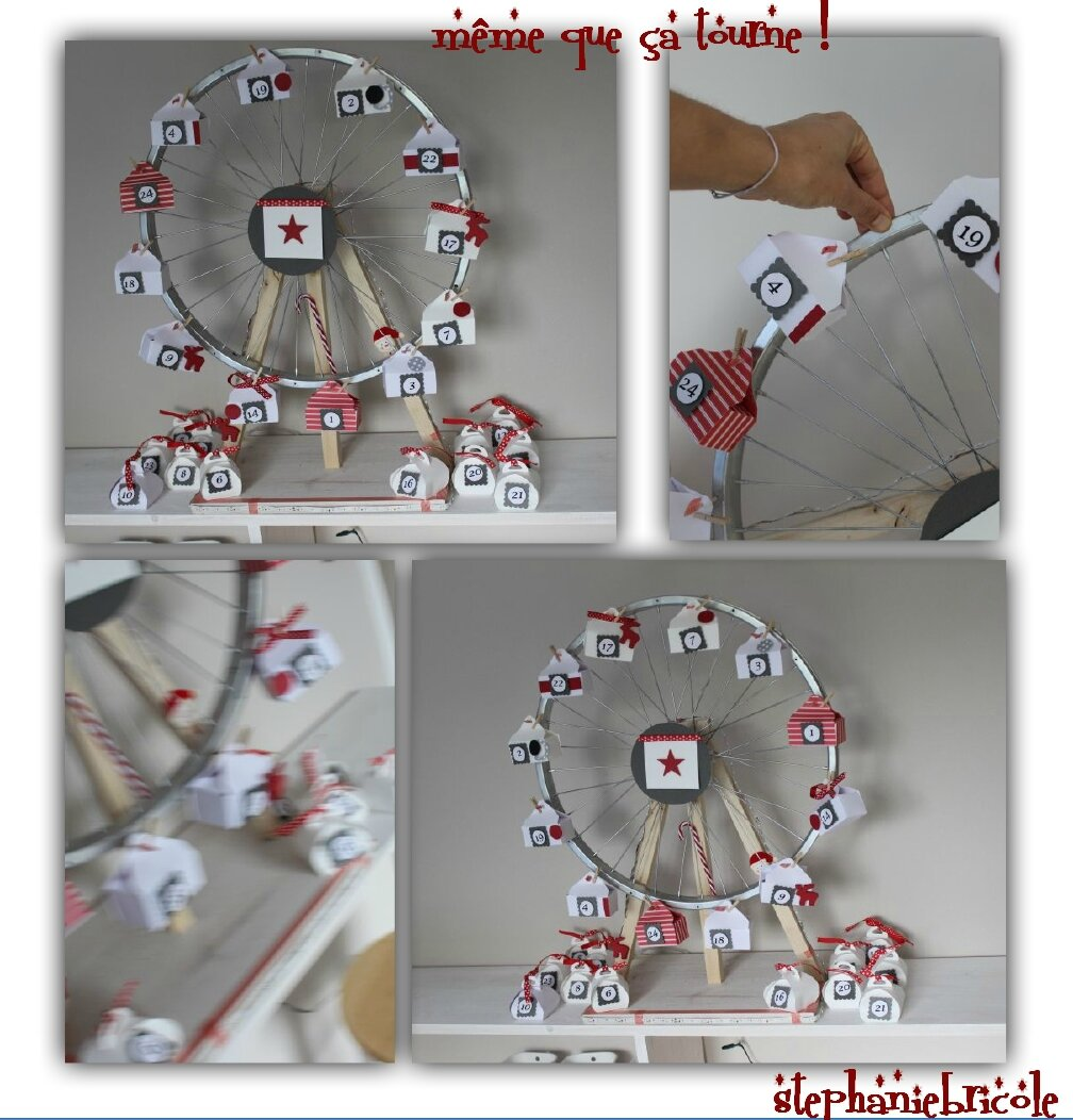 Diy faire soi m me un calendrier de l 39 avent grande roue - Decoration de noel de table a faire soi meme ...