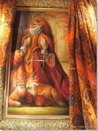 vitrine hermès Renards