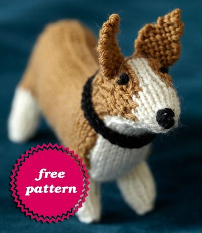 Free Dog Knitting Patterns : Knit your own dog - Nidabeilles