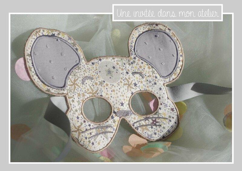 masque de souris-Liberty adelajda brun