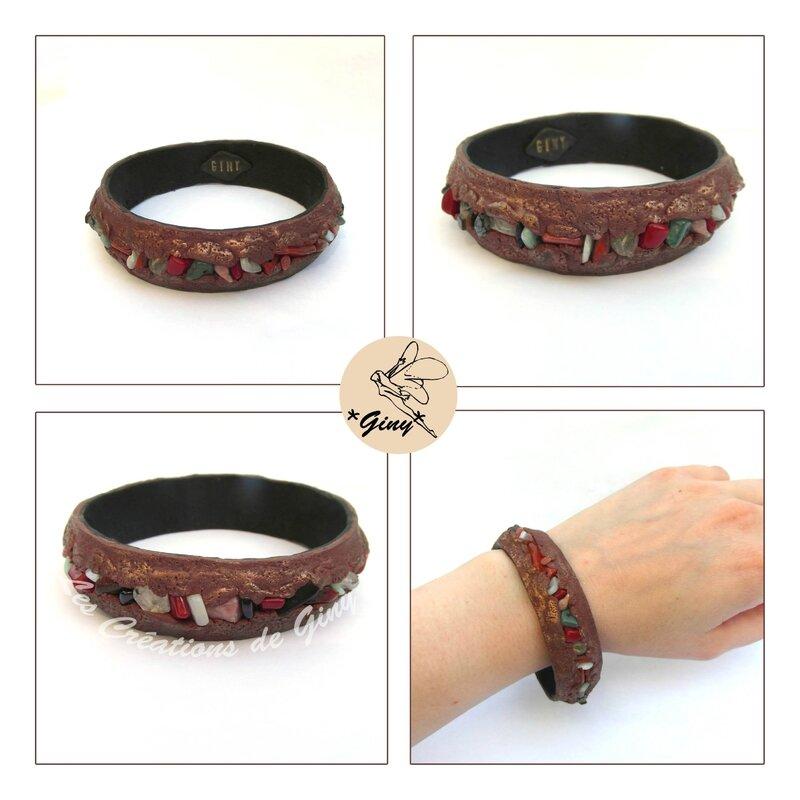 bracelet-polymère + pierre