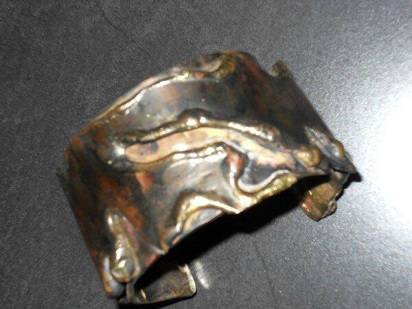 bracelet fonte et patine
