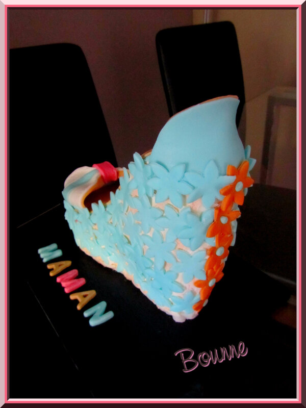 Gâteau chaussure fête des mères (4)