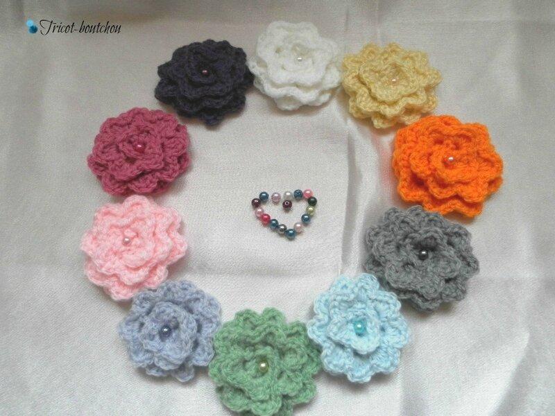 tricoter une fleur au crochet