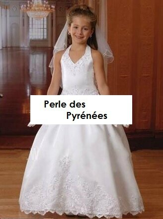 """Mini-mariée """"Klarys"""" 4 ans dispo de suite( du 2 au 14 ans sur commande)"""