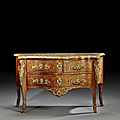 Commode d'époque louis xv, estampille de francois mondon