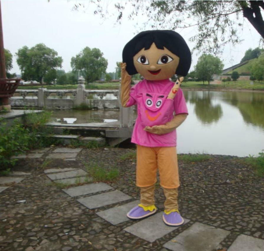 Déguisement Dora adulte mascotte