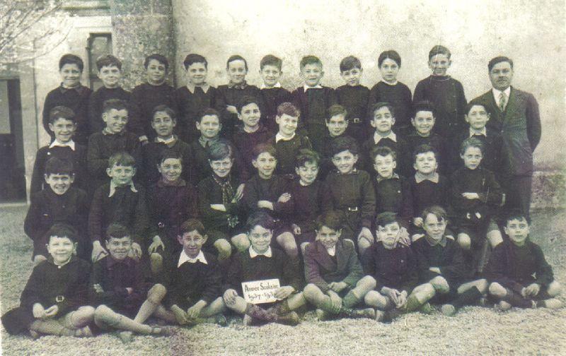 Ec. com. Ste-Foy, classe de M. Chaigneau, 1937-38