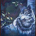 Peinture Loup gris Grand prédateur pelage hiver inspiration photo Patrice Raydelet Huile sur toile Ghislaine Letourneur - Vopsire de lup - Gray Wolf Painting - Серый волк Краски