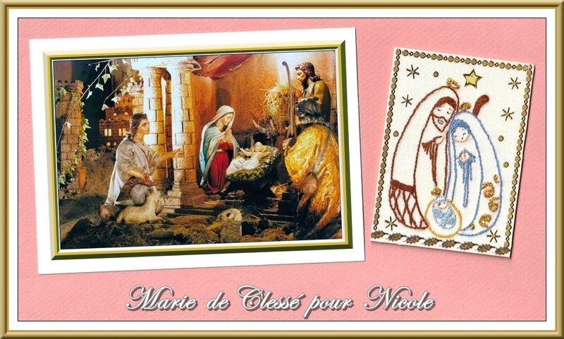 Échange ATC (Nativité) Chez Lysettte Décembre Marie de Clessé pour Nocole 2