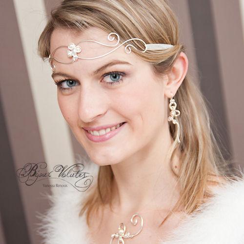 bijou de front tiare des elfes diad me elfique mariage m di val bijoux volutes mariage. Black Bedroom Furniture Sets. Home Design Ideas