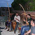 Cours de musique brésilienne avec le Capoeïriste Julien!!