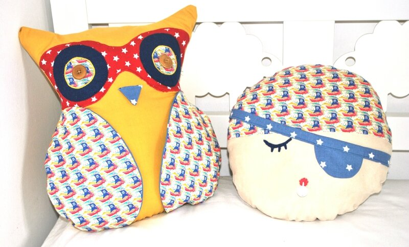 Chouette & coussin pirate_Chut Charlotte