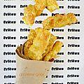 Frites de courgette panées au crumble