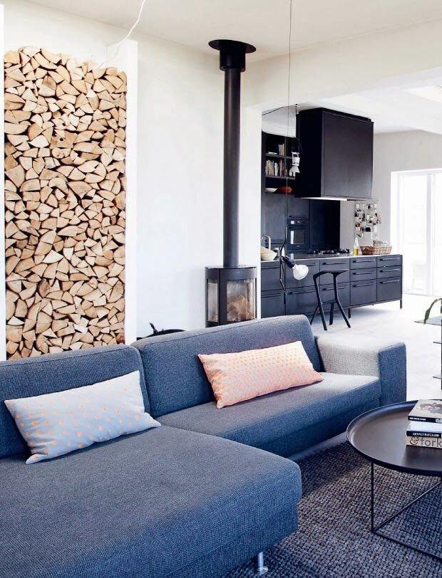 Comment ranger joliment le bois de cheminée ?  Cest bientôt Noël