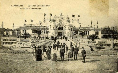 16. Exposition Coloniale Marseille 1906 palais de la Cochinchin