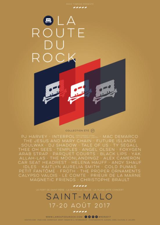 festival la Route du Rock RDR 2017 Saint-Malo affiche visuel